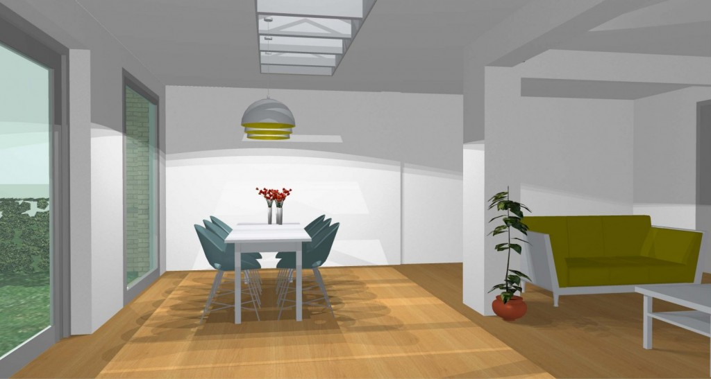 Eetkamer In Woonkamer : Cropped woonkamer en eetkamer extra licht g